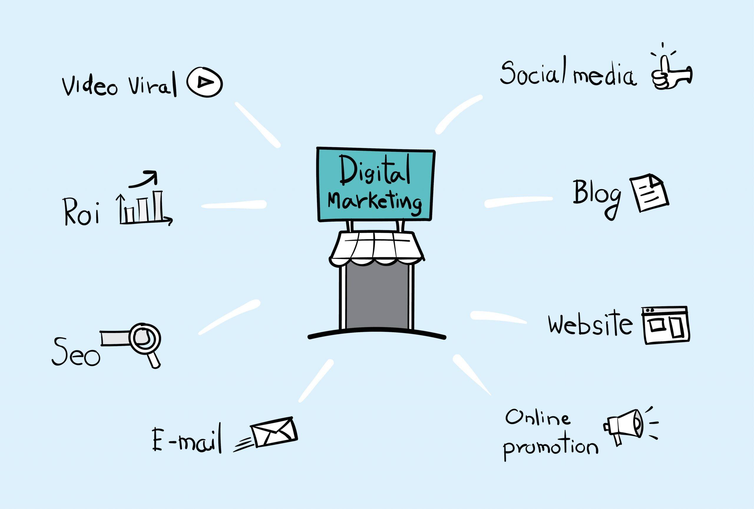 free digital marketing tools illustration
