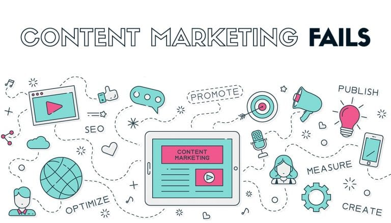 content marketing fails illustration