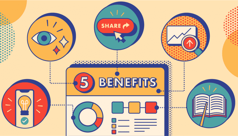 illustration of five different benefits