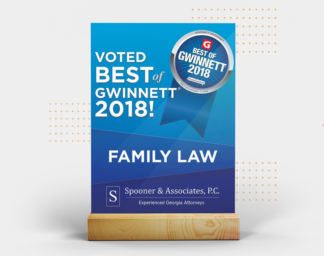 Voted Best of Gwinnett 2018 flyer