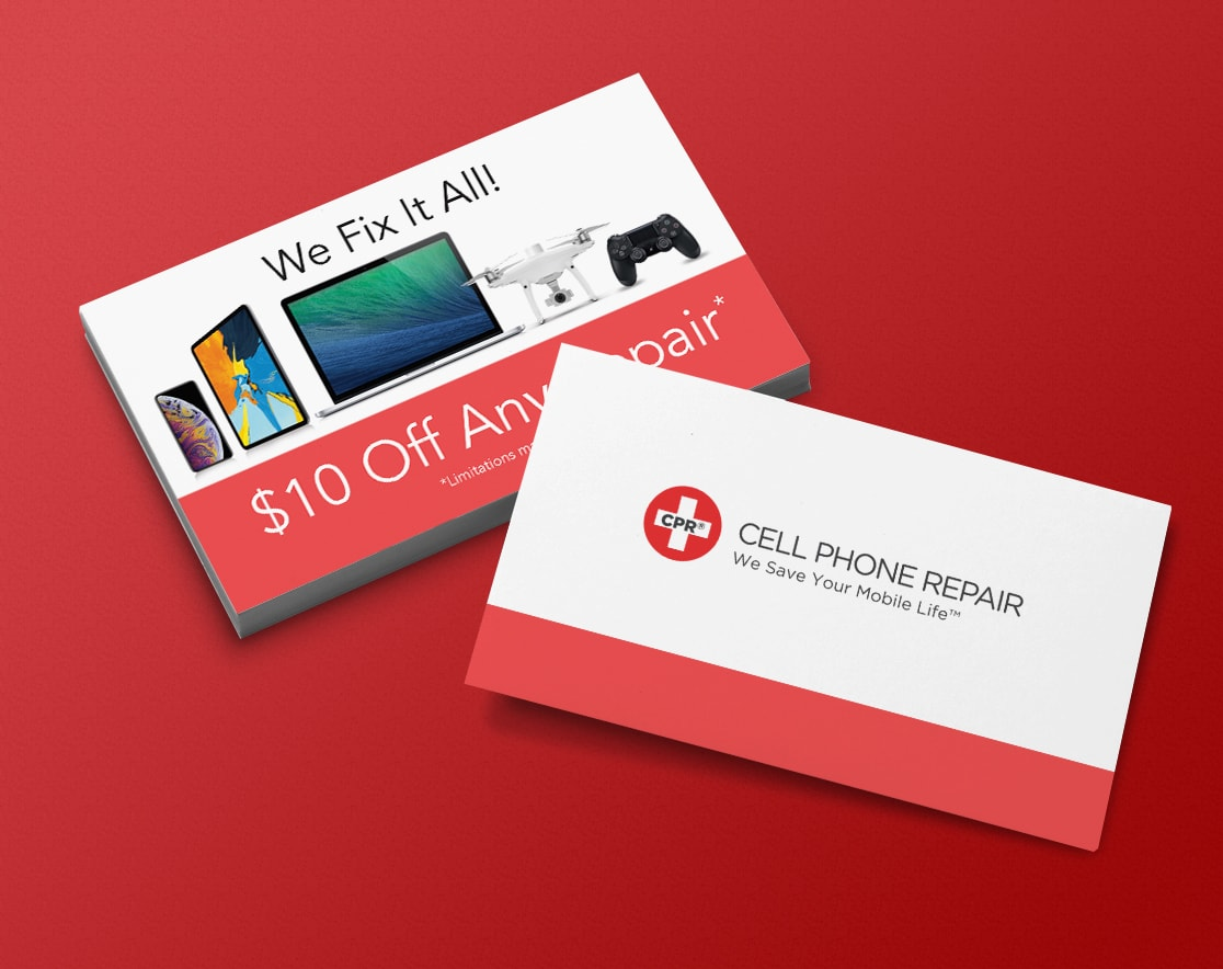 Cell phone repair business card