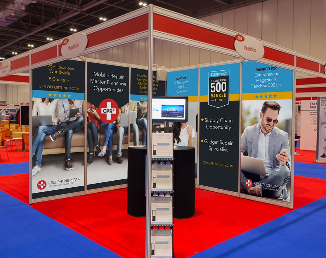cpr franchise booth design at conference
