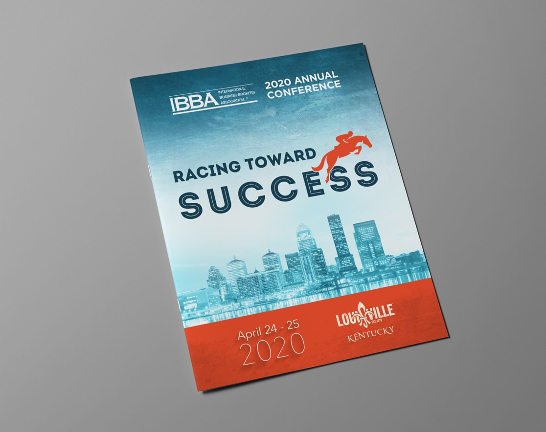 front cover of IBBA printed flyer