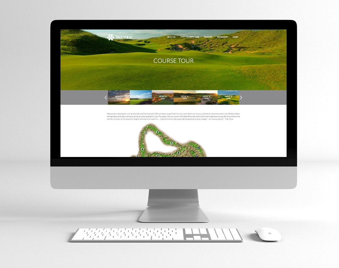 ballyneal course tour page on mac book