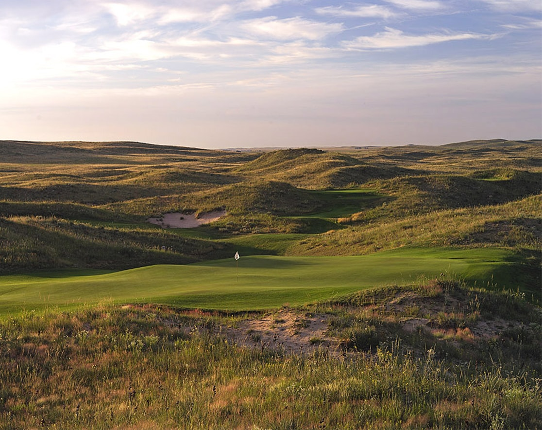 over view of ballyneal golf course