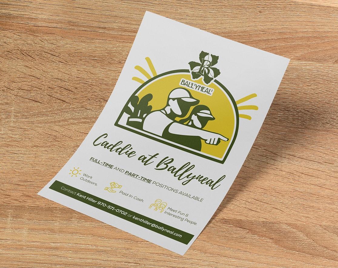 Caddie Job Openings flyer