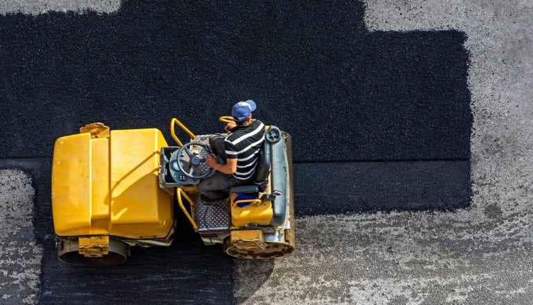 paving company working that is using digital marketing solutions