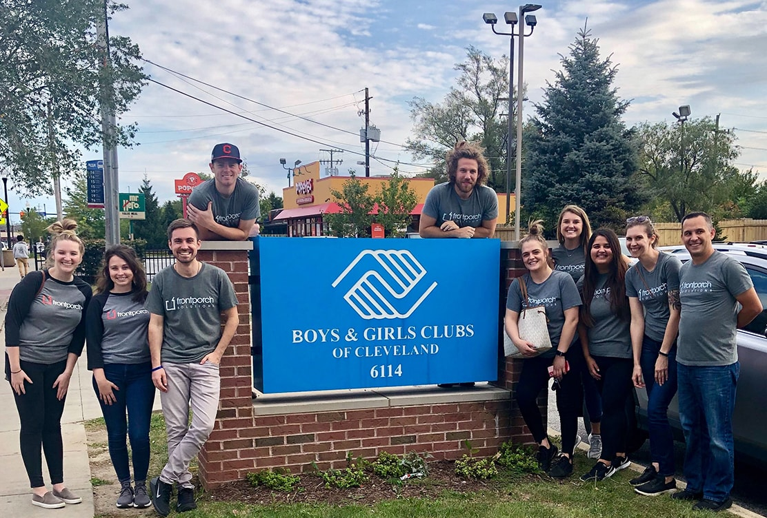 cleveland front porch solutions team volunteering at the Boys & Girls Club