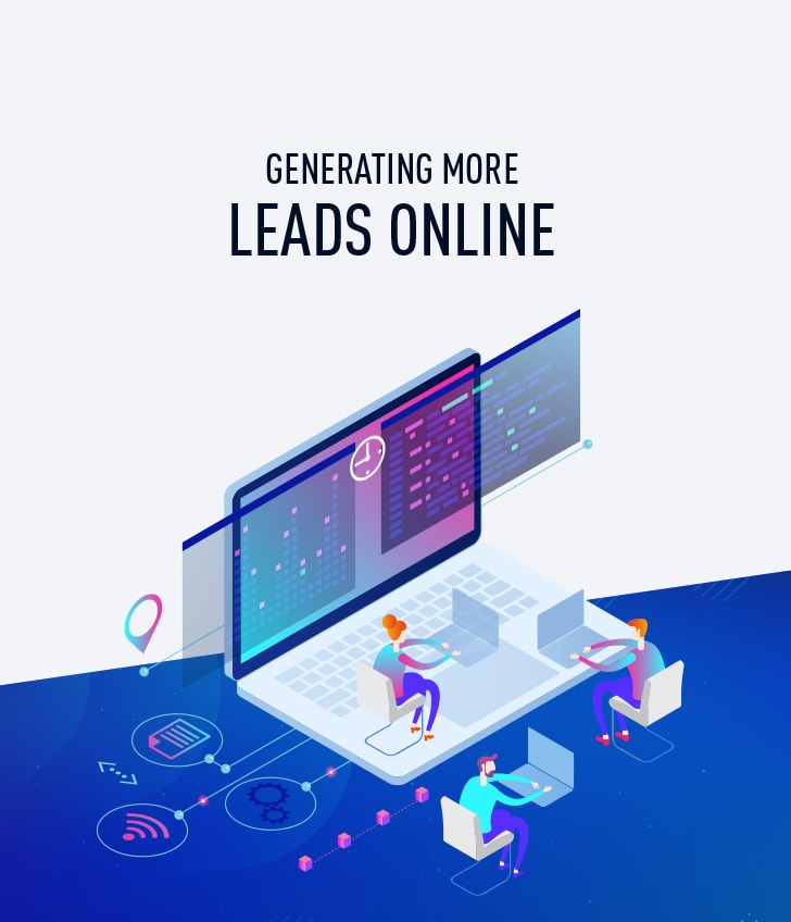 generating leads online white paper image
