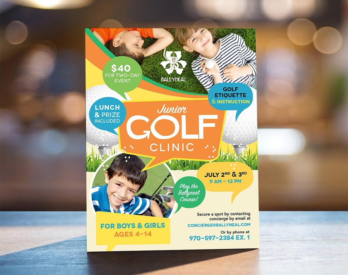 Junior Golf Clinic flyer