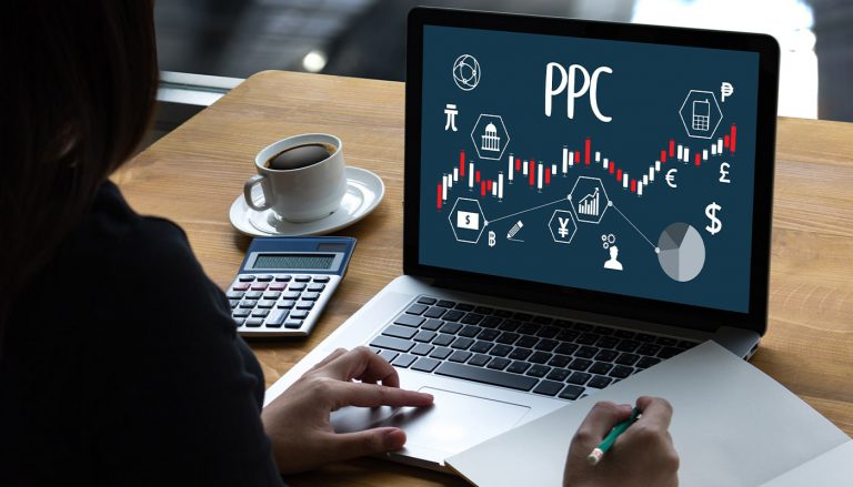 PPC diagram on a womans computer