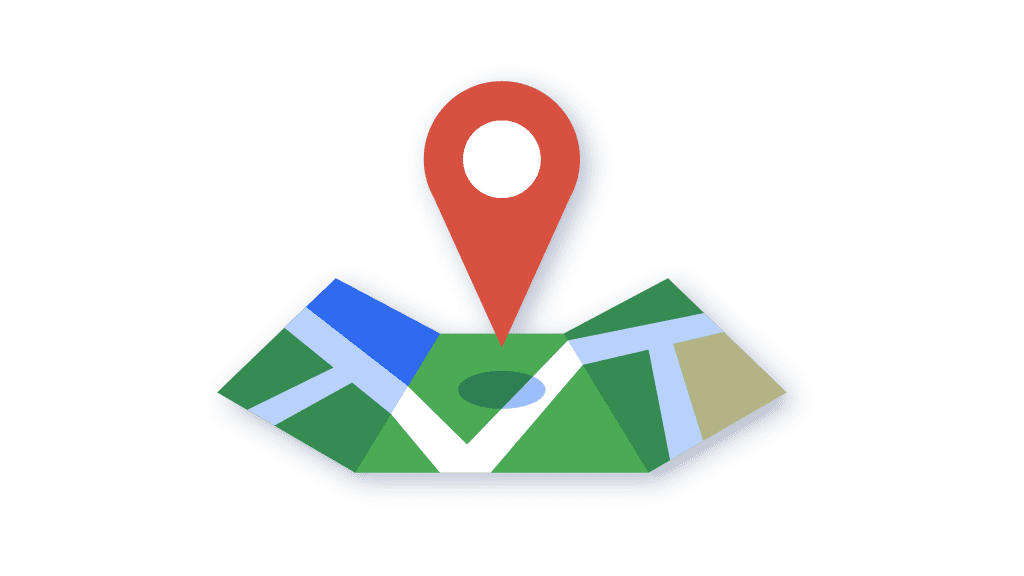 google maps with location pin