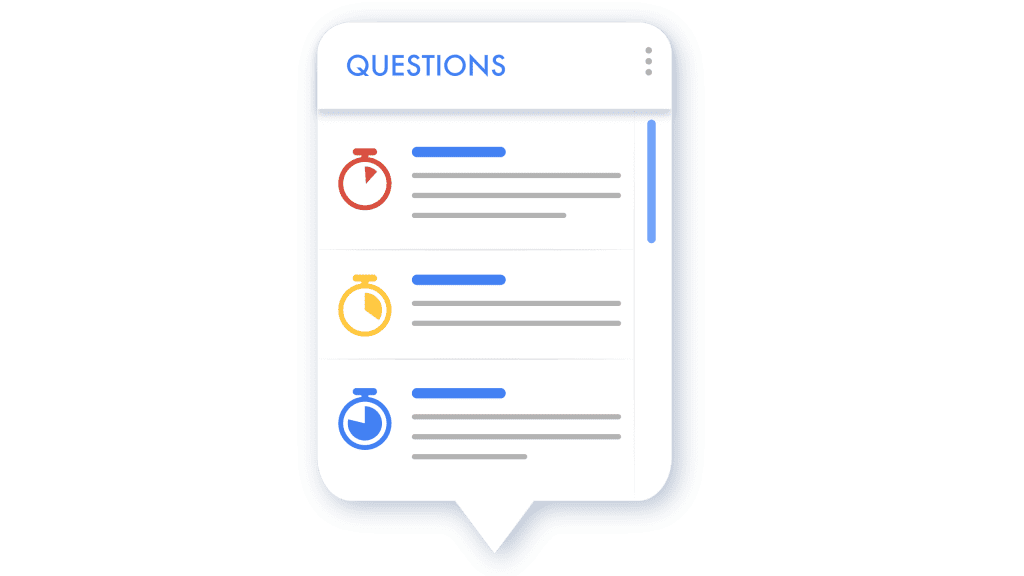 illustration of questions listed