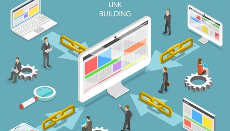 SEO link building strategy animation
