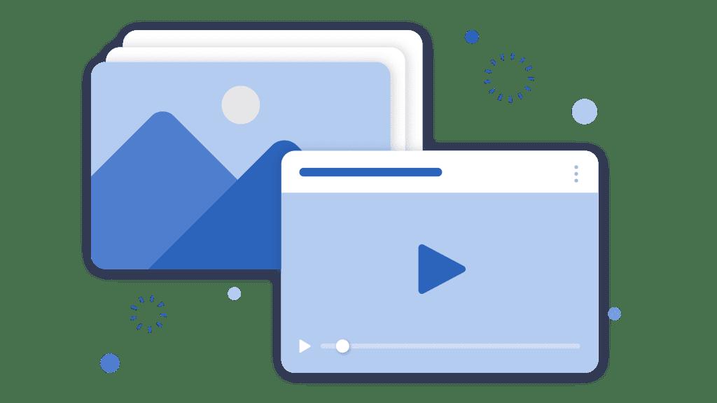 illustration of a video play symbol
