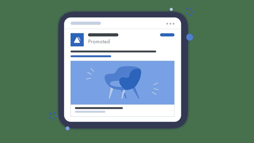 illustration of a linkedin ad
