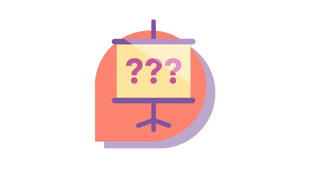 icon with question marks inside