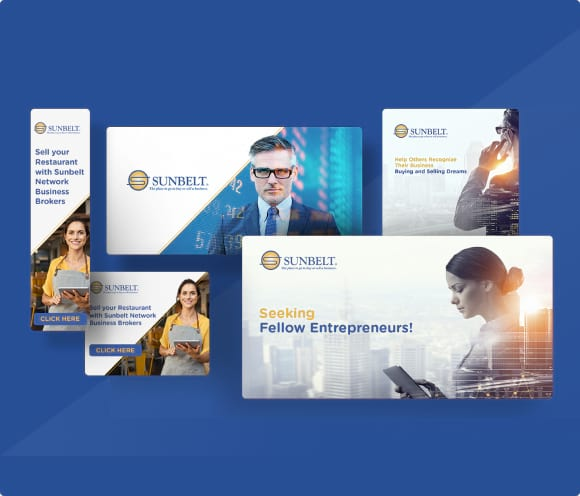 sunbelt business brokers display ads designed by front porch solutions
