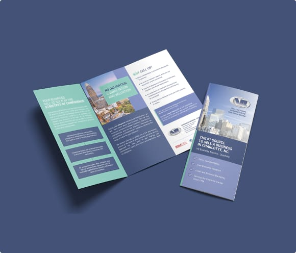 vr business brokers brochure designed by front porch solutions