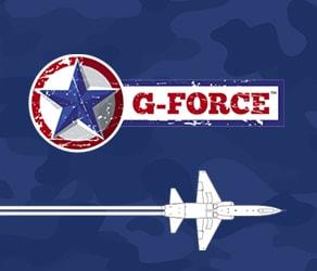 design of g-force parking lot striping website on laptop