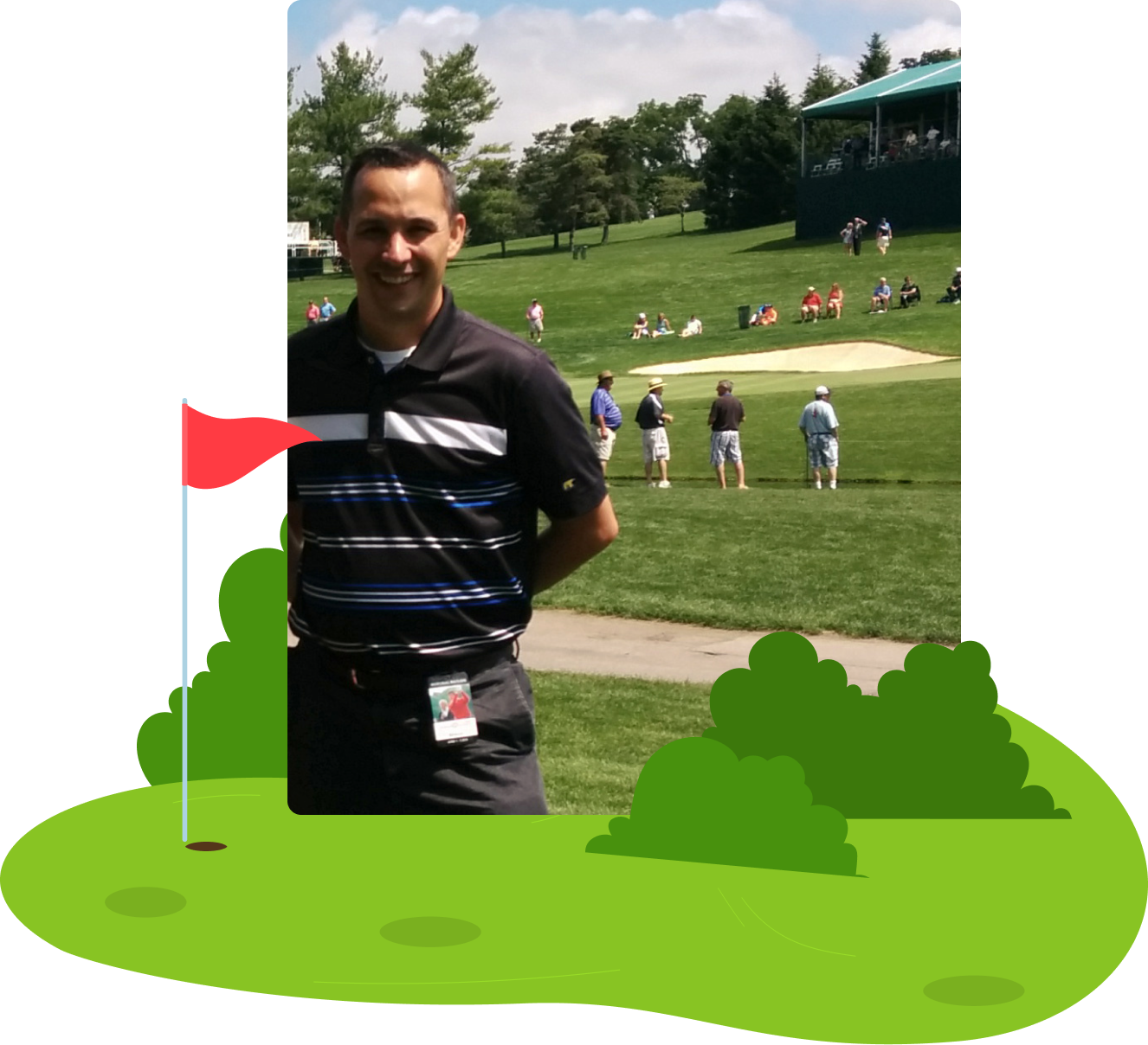 kregg kish on golf course