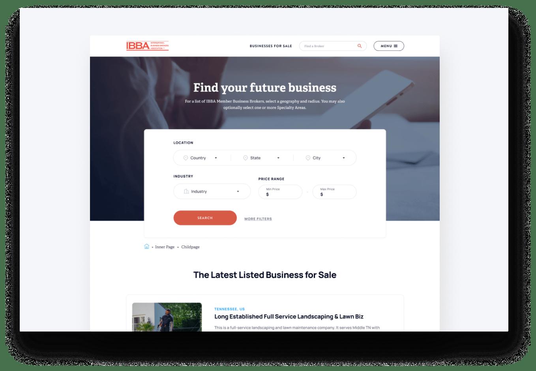 business listings engine on ibba website