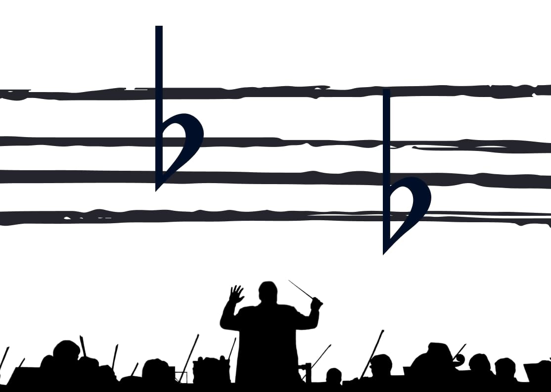 musical event with flat notes