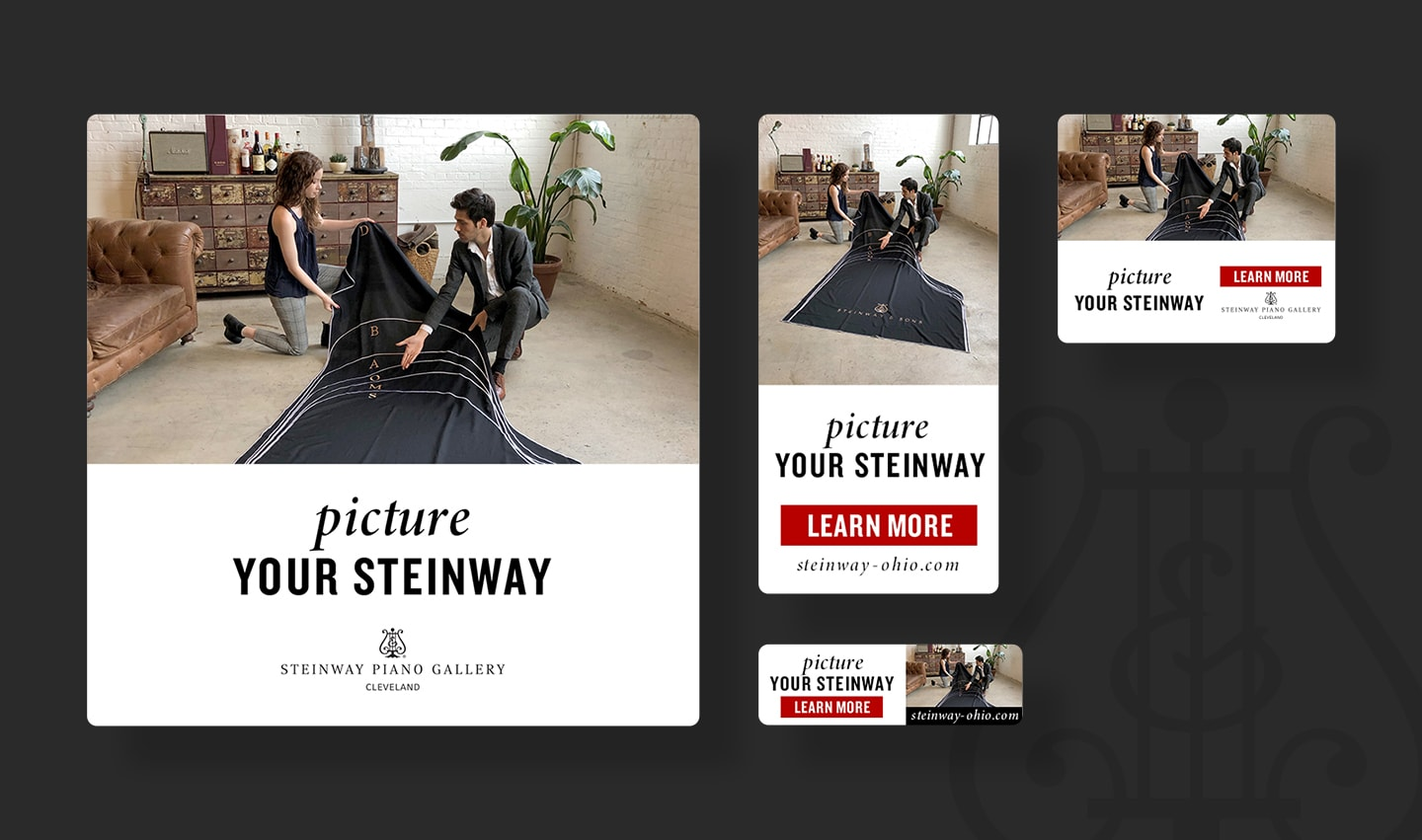 steinway and sons google display ads