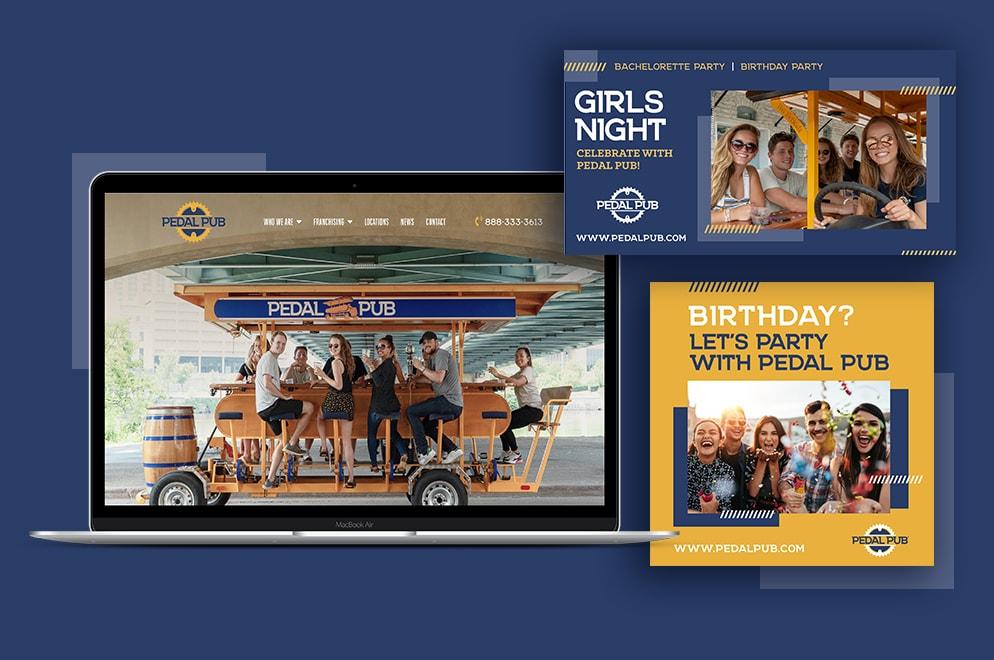 pedal pub franchise marketing assets