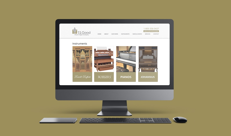 ts good church organ company website design